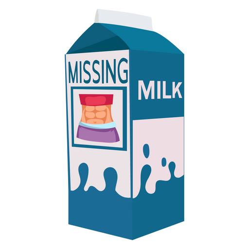 Milk Missing Six Pack Abs Sticker