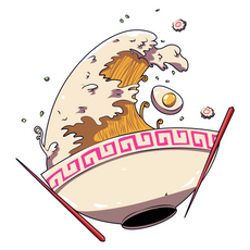 Great Ramen Wave Sticker