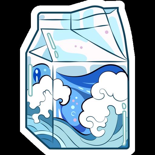 Ocean in the Drinks Package Sticker