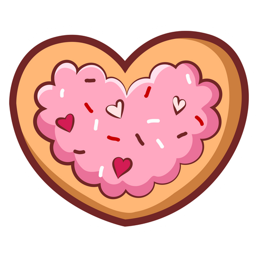 Sugar Pink Love Heart Cookie Sticker