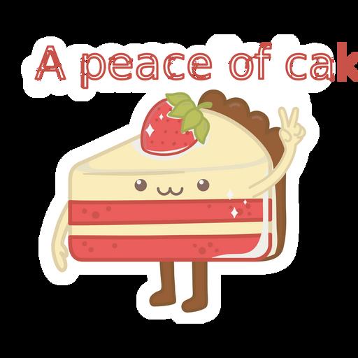 Cake - A Peace of Cake Sticker