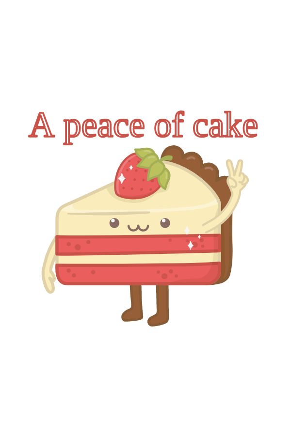 Cake - A Peace of Cake Sticker