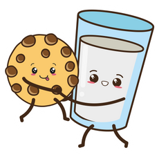 Cute Milk and Cookie Sticker