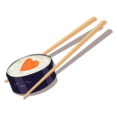 Sushi Love Maki Sticker