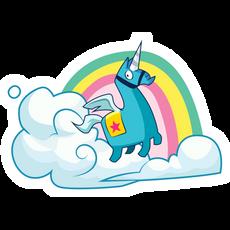 Fortnite Brite Unicorn Sticker