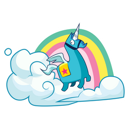 Fortnite Brite Unicorn Sticker