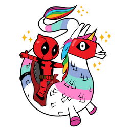 Fortnite Deadpool Riding Dragacorn Sticker