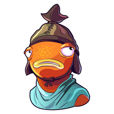 Fortnite Sad Fishstick Skin Sticker