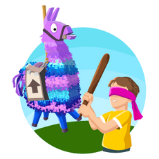 Fortnite Llama Have Fun at the Birthday Party