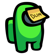 Among Us Lime Character Dum Sticker