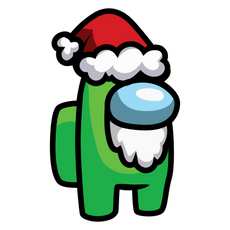 Among Us in Santa Hat Sticker