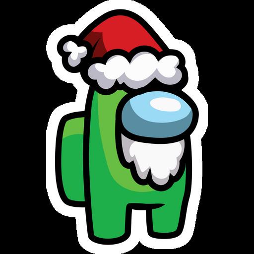 Among Us in Santa Hat Sticker