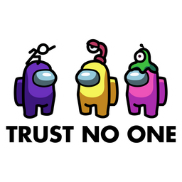 Among Us Trust No One Sticker