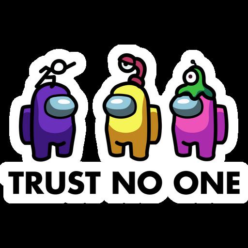 Among Us Trust No One Sticker