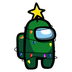 Among Us Christmas Tree Sticker