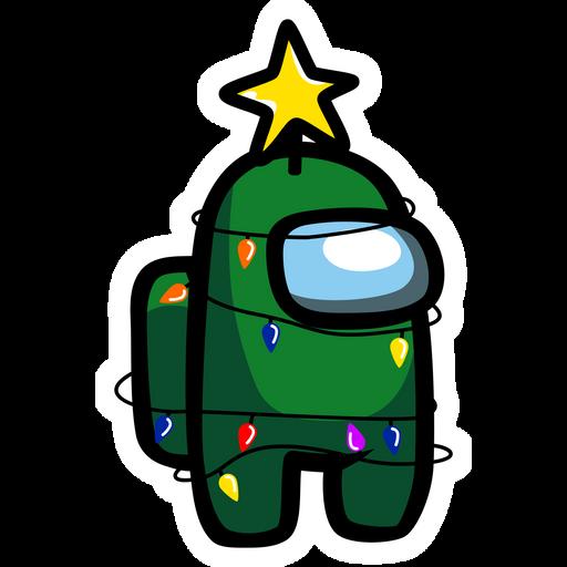 Among Us Christmas Tree Sticker