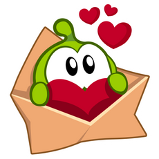 Cut the Rope Love Message Sticker