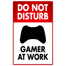 Do Not Disturb Gamer at Work Sticker