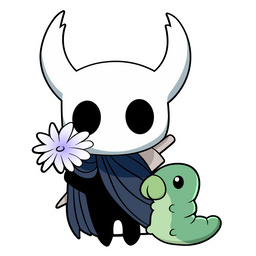 Hollow Knight the Knight with Flower Sticker