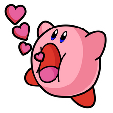 Kirby Love Sticker