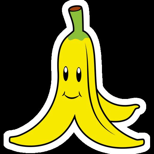 Super Mario Banana Peel Sticker
