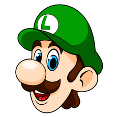 Mario Luigi Head Sticker