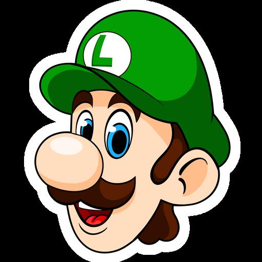 Mario Luigi Head Sticker