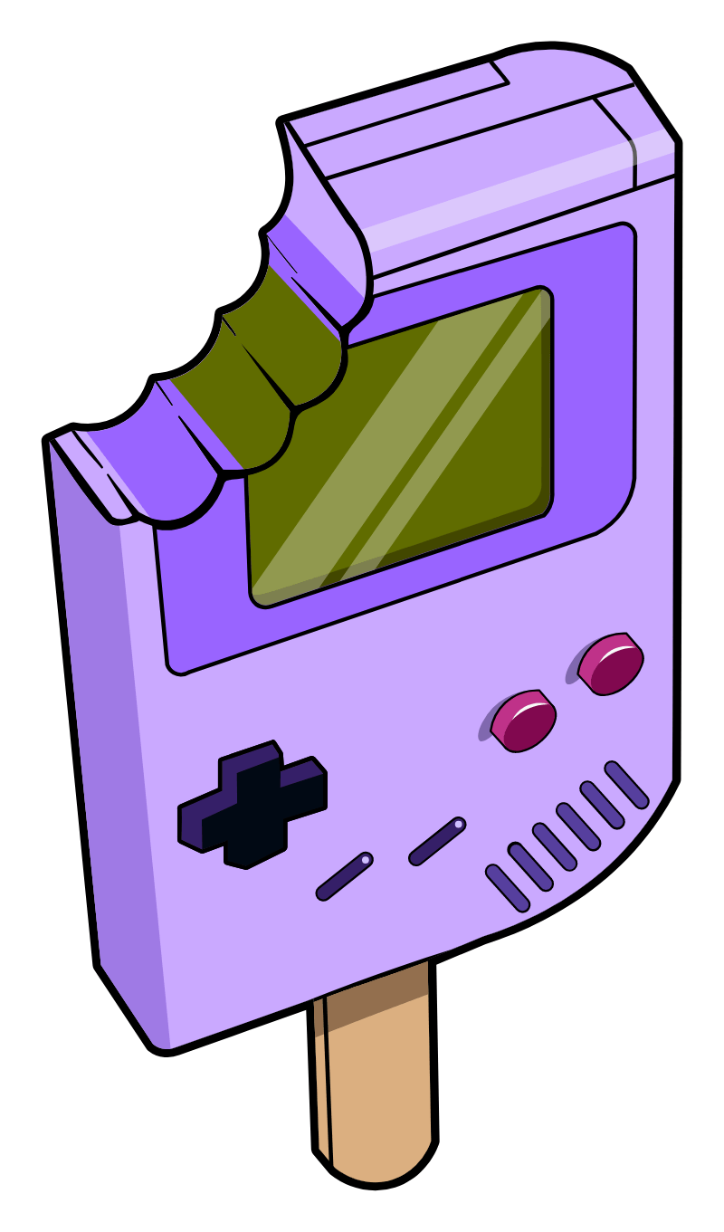 Nintendo Game Boy Ice Cream Sticker