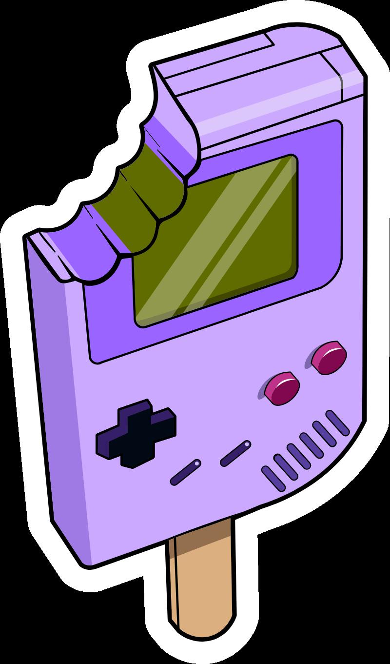 Nintendo Game Boy Ice Cream Sticker