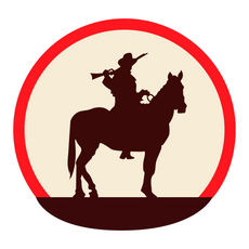 Red Dead Redemption 2 Silhouette on Horseback Sticker