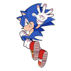 Sonic Jumping Sticker