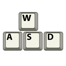 WASD Keyboard Keycaps Sticker
