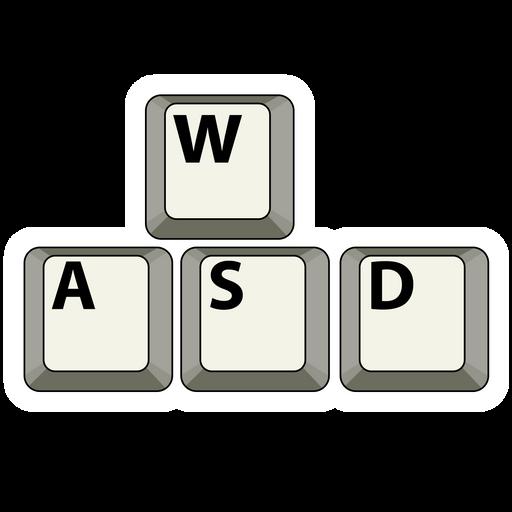 WASD Keyboard Keycaps Sticker