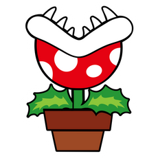 Super Mario Piranha Plant Sticker
