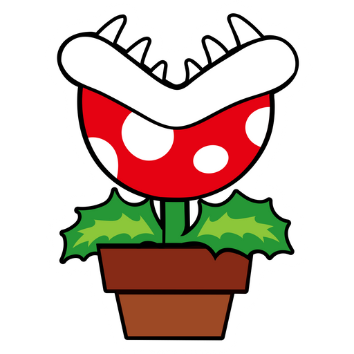Super Mario Piranha Plant Sticker