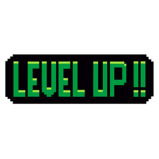 Pixel Level Up Sticker