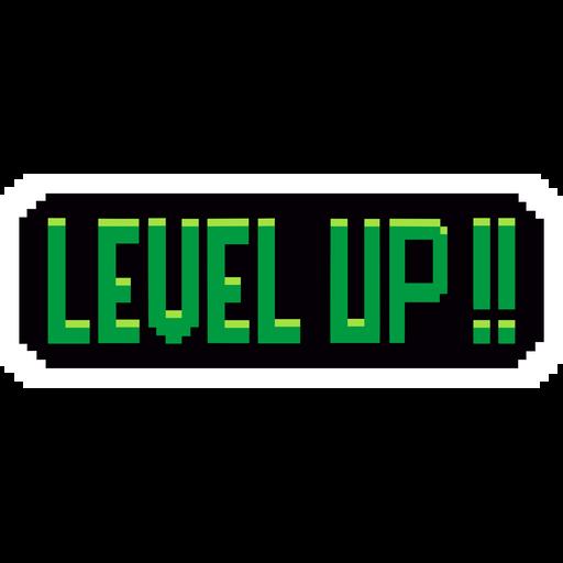 Pixel Level Up Sticker