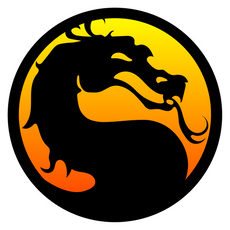 Mortal Kombat Dragon Logo Sticker