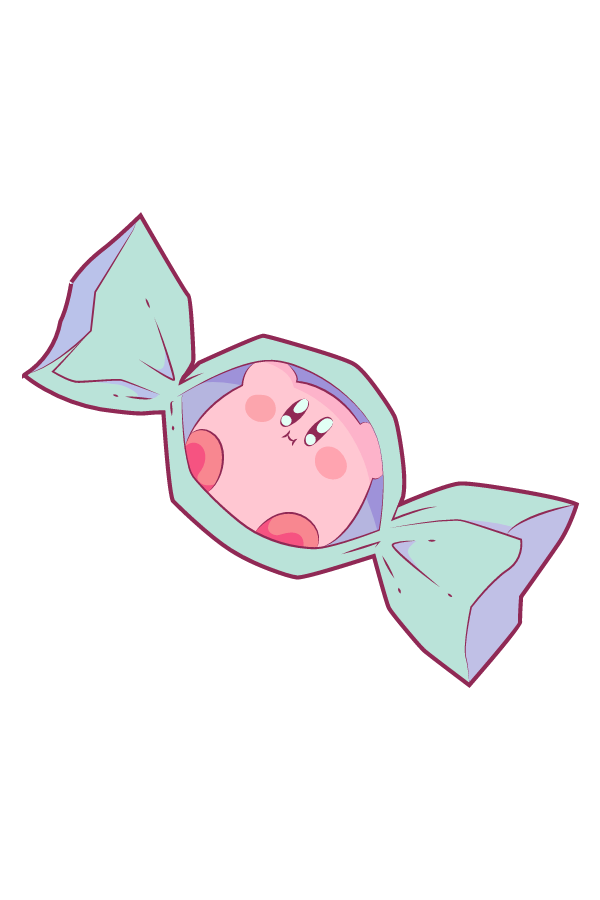 Kirby Candy Sticker