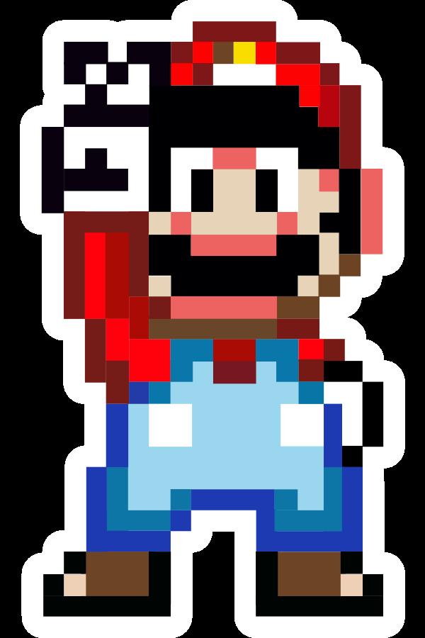 16-Bit Mario Sticker