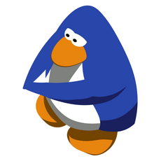 Club Penguin Blue Sticker