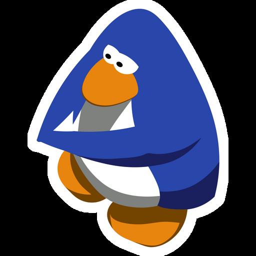 Club Penguin Blue Sticker