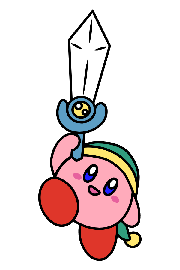 Kirby with a Sword Sticker