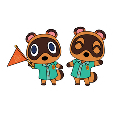 Animal Crossing Timmy and Tommy Sticker