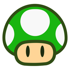 Super Mario 1-Up Mushroom Sticker