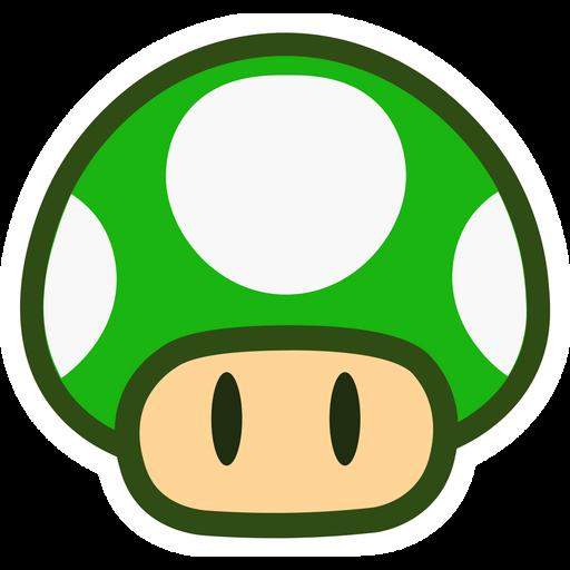 Super Mario 1-Up Mushroom Sticker