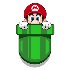 Super Mario Pocket Mario Sticker