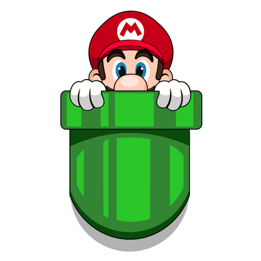 Super Mario Pocket Mario Sticker