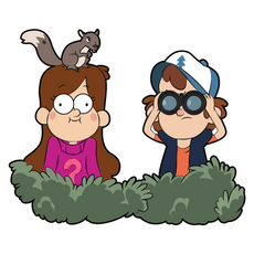 Dipper and Mabel Pines in Ambush Sticker