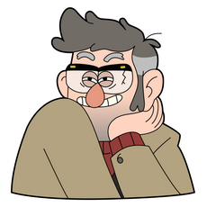 Gravity Falls Ford Pines Sticker
